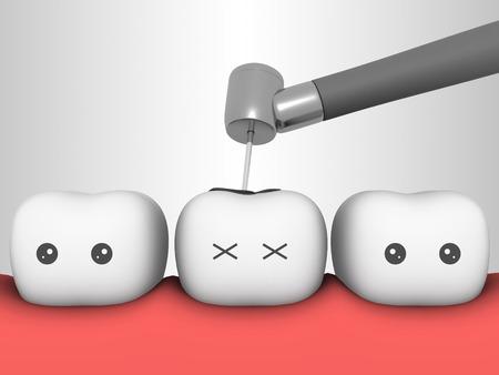 diente 3d concepto dientes dientes