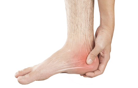 heel muscle pain Stock Photo