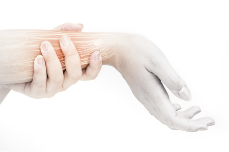 forearm muscle pain Stock Photo