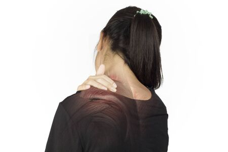 shoulder muscle injury white background shoulder pain