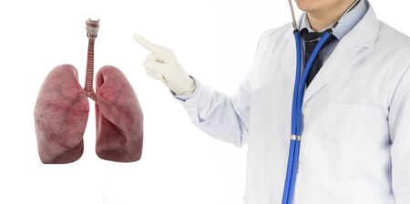 doctor check respiratory of lung , lungs disease , 3D concept Stock fotó - 138156486