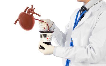 doctor cure heart disease , cardiology symptoms , 3D concept Banque d'images