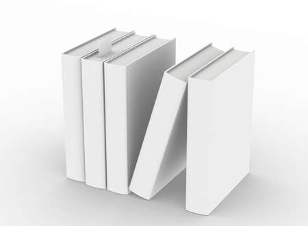 template empty hardcover book mockup on white background
