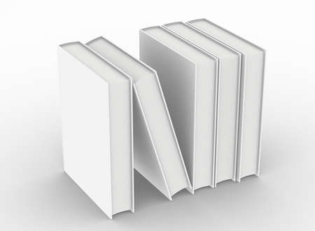 empty hardcover book mockup , 3d rendering