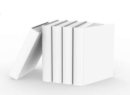 template empty hardcover book mockup set , 3d rendering