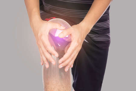 male athlete x-ray knee muscle feel pain