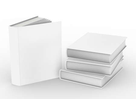 template empty hardcover book mockup , 3d rendering