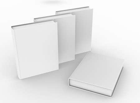 template empty hardcover book mockup set , 3d rendering Stok Fotoğraf - 166964797
