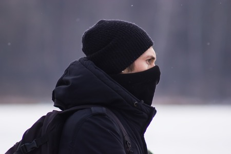 extremist: Zhytomyr, Ukraine - January 19, 2016: Extremist ready for action Editorial