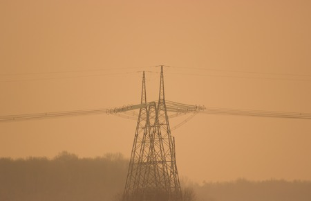 dielectric: High voltage power line on the fog
