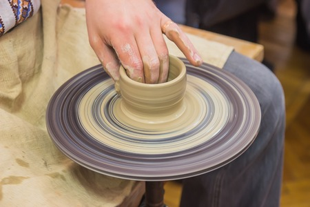 dexterity: The process of manufacture by arms and training on the machine pottery