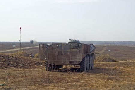 firepower: Heavy artillery tank on military at war