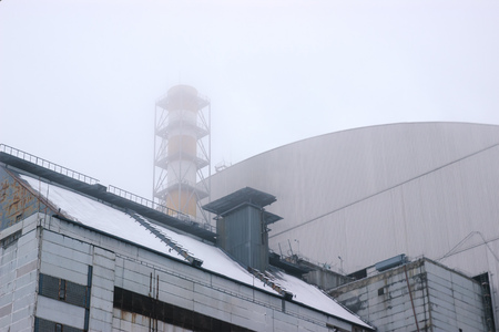 New big reactor shelter at Chernobyl, Ukraine