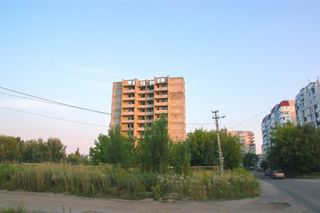 npp: View Ghost Town Pripyat, Chernobyl Exclusion Zone, Ukraine