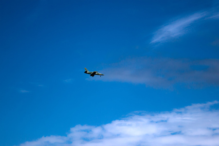 danger between aircraft during flight aviation accident Stock Photo