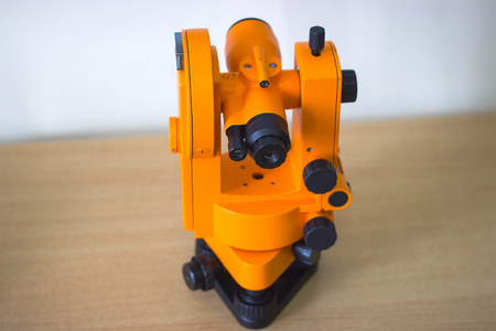 orange scientific device for experiments with macro