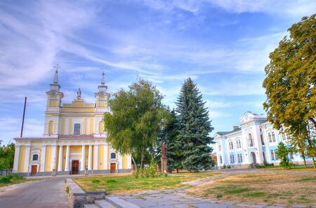 Orthodox church in summer at blue cloudy sky 写真素材