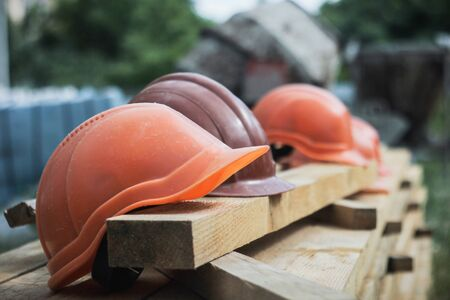 The contractor provided a many helmet for the workers to wear before entering the construction area and provided helmets against the falling objects.