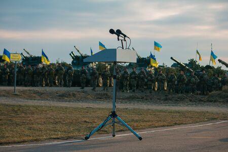 Armeeparade, Militäreinheitssoldatenreihenmarsch