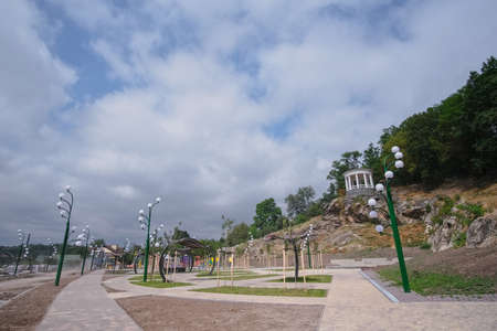 Reconstructed river quay at the small town of Zhytomyr, Ukraine.
