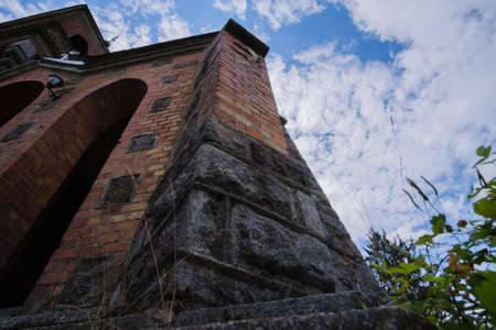 Neo-Gothic Church of St. Clare in Horodkivka, Ukraine. Stok Fotoğraf