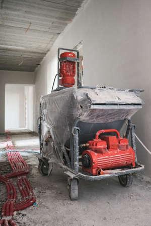 Installation systems equipment for interior construction site. Foto de archivo