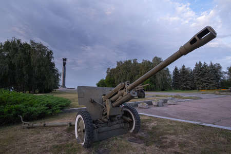 Old soviet heavy equipment from the second world war. Editorial