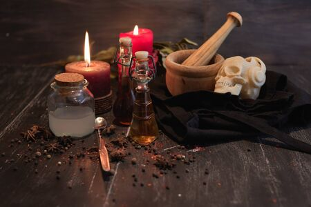 potion of natural herbs for black magic