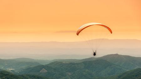 high flier: Paragliding flight