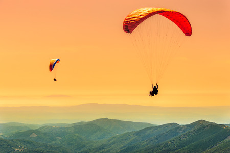 Duo paragliding vlucht