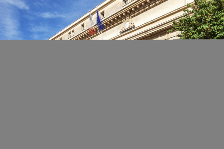 infringement: Court of appeal in Aix en Provence with statues France Editorial