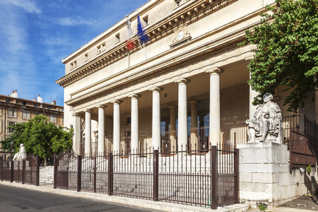 Court of appeal in Aix en Provence with statues France Editorial