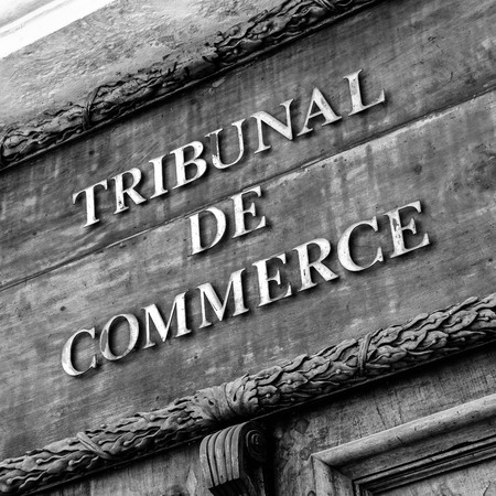 appellate: Commercial Court of Aix en Provence black and white Editorial