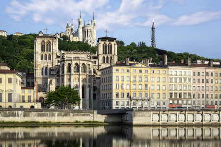 cathedrale: Cathedrale above the church in Lyon city France