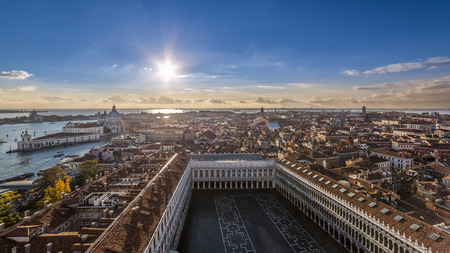 marc: West view inside The bell tower of St Mark, Venice Editorial