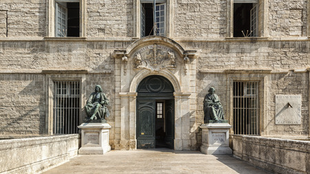 faculty: Entrance of Faculty of Medicine Montpellier, France Editorial