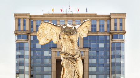 Victory statue of Samothrace in Montpellier, France