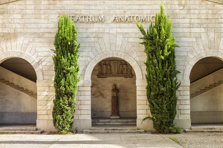 faculty: Theatrum Anatomicum in Faculty of Medicine Montpellier, France