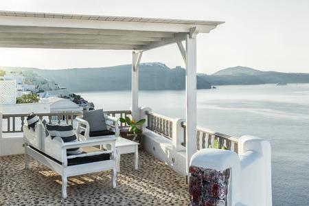 Living on a terrace in Oia, Santorini