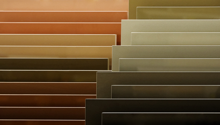 coverings: Samples of colored ceramic floor coverings. Decorative tiles.