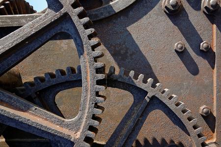 Antique cast iron gear transmission mechanism. Reklamní fotografie