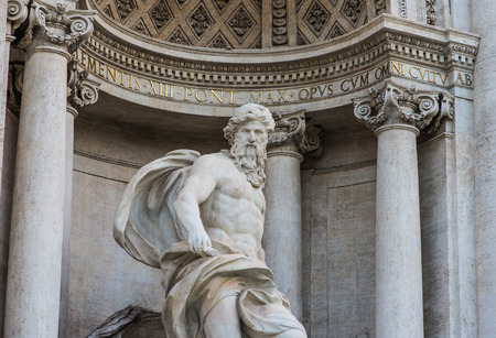 Detail of Trevi Fountain, Rome, Italy