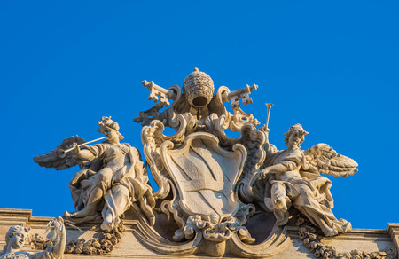 angels fountain: Detail of Trevi Fountain, Rome, Italy