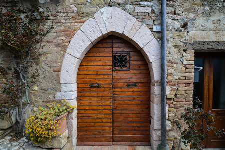 unavailability: View of door in Umbria region, Italy
