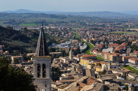 umbria: Urban landscape Spoleto, Umbria, Italy Stock Photo