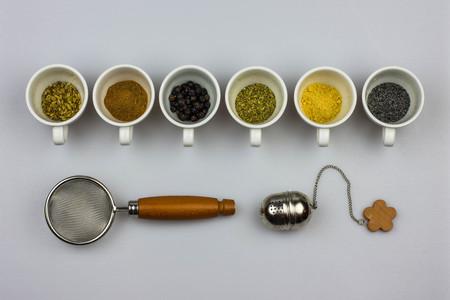 Herbal tea ingredients - fennel seeds, cinnamon, juniper