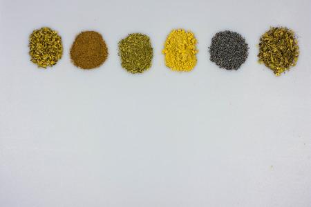 colon cleansing: Herbal tea ingredients - fennel seeds, cinnamon, mallow, ginger, poppy seeds, lemon balm