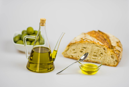 Italian olive oil with freshly baked bread
