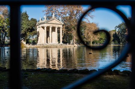 aesculapius: Villa Borghese, Rome, Italy Foto de archivo