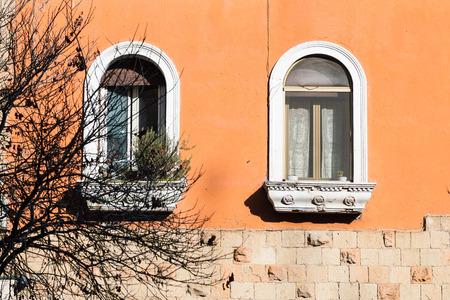 Window, Garbatella, Rome, Italy Stock Photo